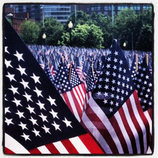 memorial day flags boston common