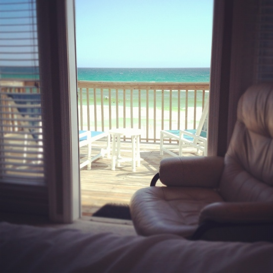 beach view from bedroom