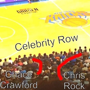"""Celebrity Row""- literally. They called it that."