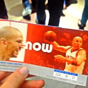 Jason Kidd on my ticket (yes I knew his name)